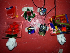 Examples of Glass Fusing workshop